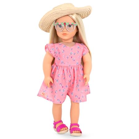 Muñeca Dahlia con vestido floreado