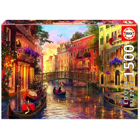 Educa Rompecabezas de Atardecer en Venecia 1500 piezas