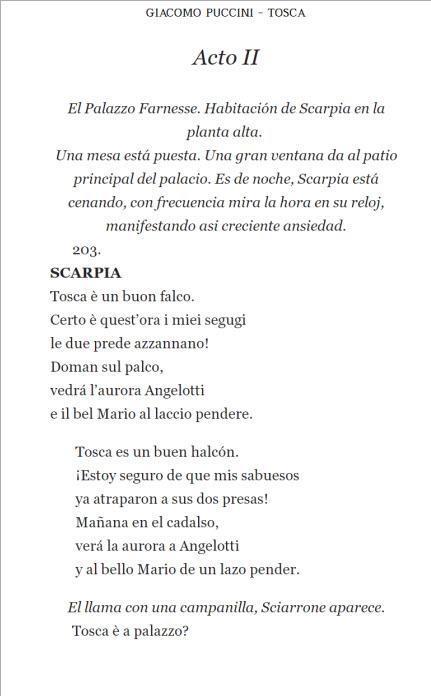 Page example - Opera en Espanol