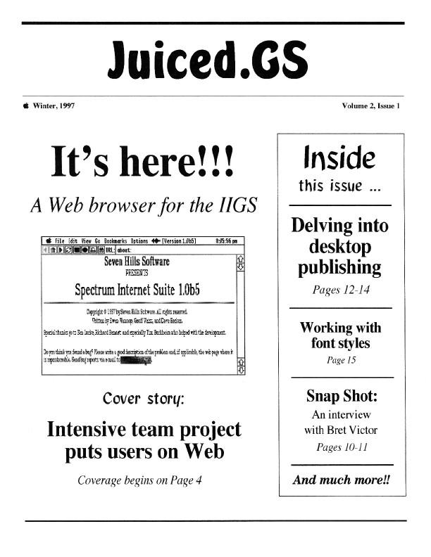 Volume 2, Issue 1 (Winter 1997)