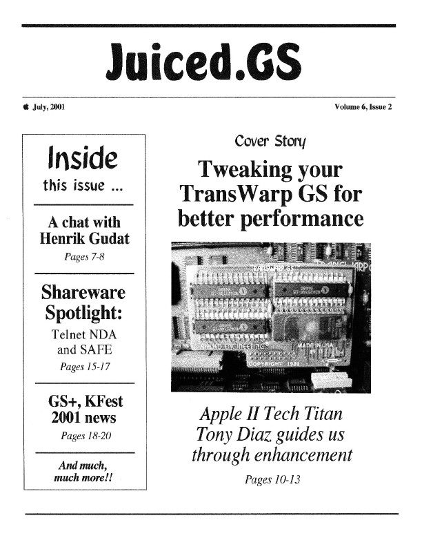 Volume 6, Issue 2 (July 2001)