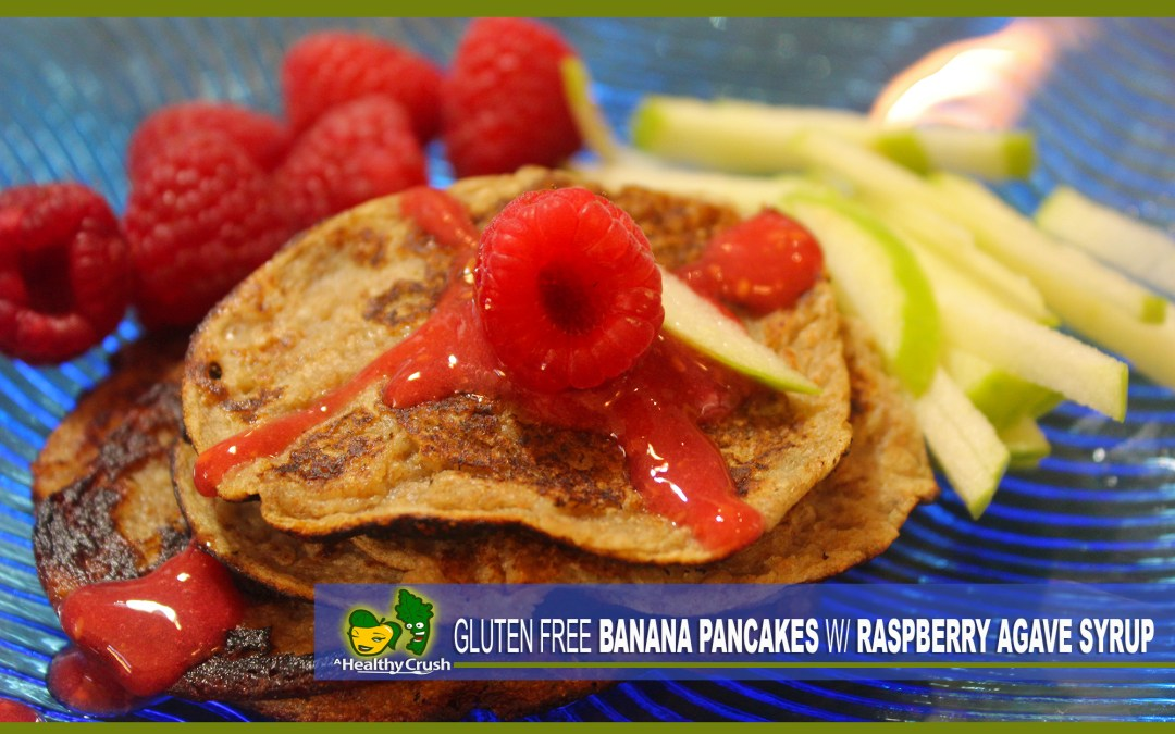 GLUTEN FREE BANANA PANCAKES WITH RASPBERRY AGAVE SYRUP  DR. SEBI APPROVED