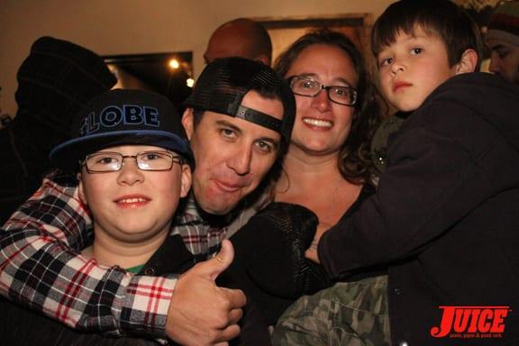 The Chris Eidem family. Photo: Dan Levy