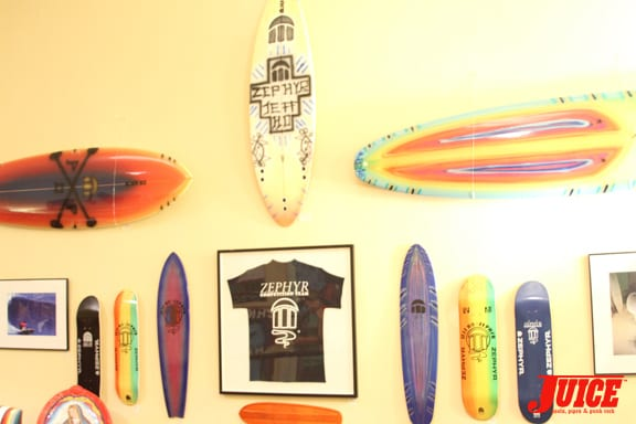These are Jeff's boards.