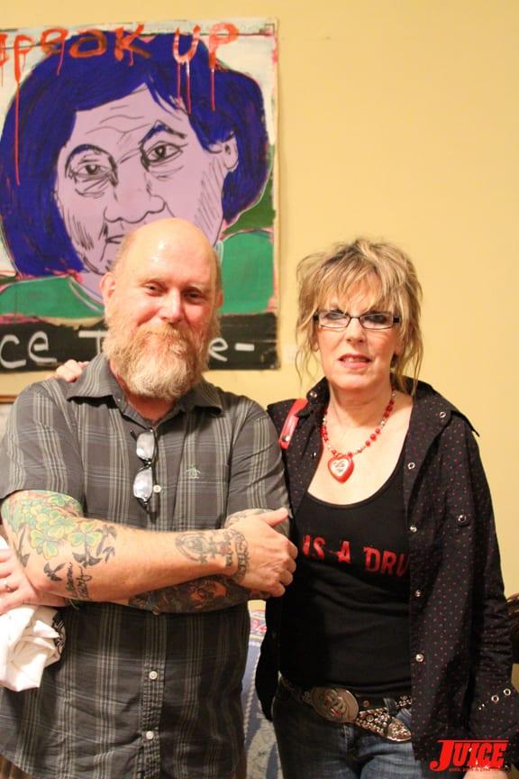 Tim Kerr and Lucinda Williams