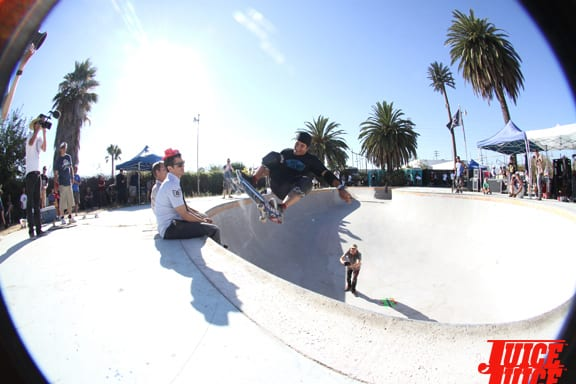 Christian Hosoi dialed in the frontside and busts a floater over Knoxville and Co.