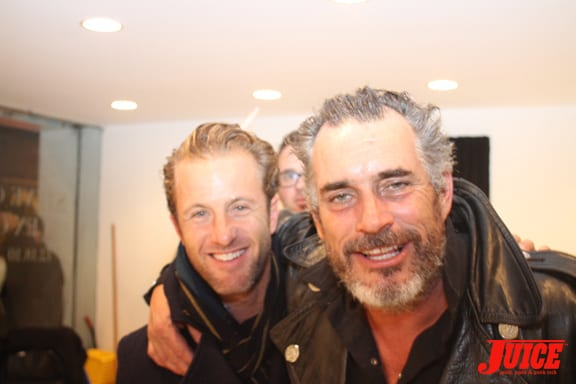 Scott Caan, fresh off the set of Hawaii Five-O, came out to see the Olson's show.