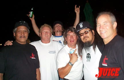 Wayne Inouye, Pat Kaiser, Benji Galloway, Paul Constantineau, Jeff Ho, Ronnie Jay. Photo: Dan Levy
