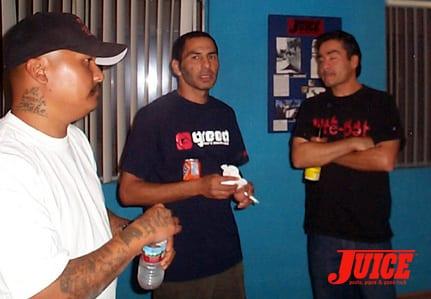 Pete Rodriguez, Jesse Martinez and Donald Cassel. Photo: Dan Levy