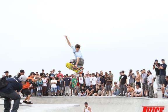 Lance Carrera-Newton going big. PHOTO: DAN LEVY