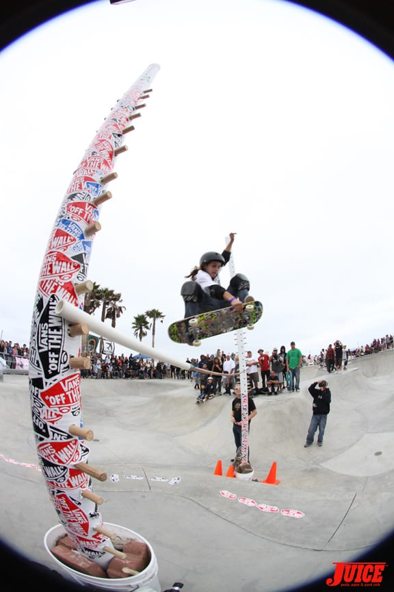 It took Jesse Martinez three days to construct this obstacle. PHOTO: DAN LEVY