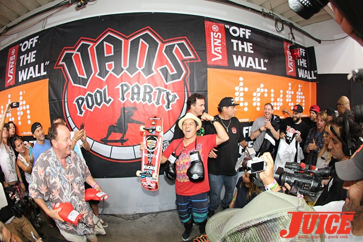 CHRISTIAN HOSOI WINNING. VANS POOL PARTY 2014. PHOTO BY DAN LEVY