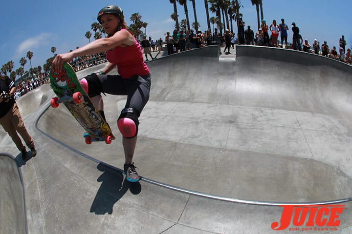 JULIE WESTFALL. ALL GIRL SKATE JAM VENICE 2014. PHOTO BY DAN LEVY