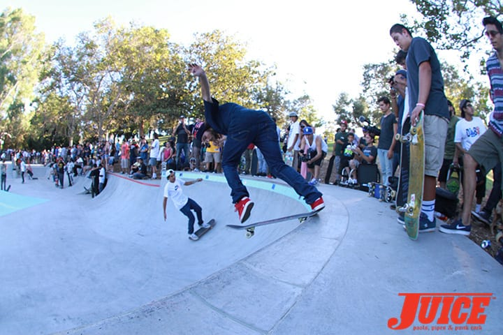 Torey Pudwill. Diamond Skate Plaza Opening Day 2014. Photo by Dan Levy.