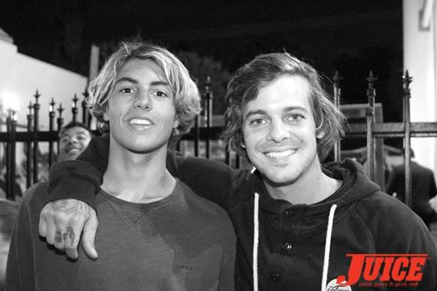 Curren Caples, Ryan Sheckler. Photo by Dan Levy