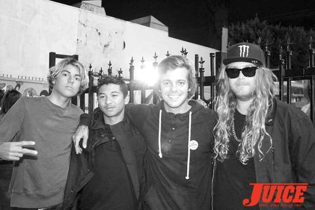 Curren Caples, Lui Eliot, Ryan Sheckler, Luke 'The Dingo' Trembath. Photo by Dan Levy