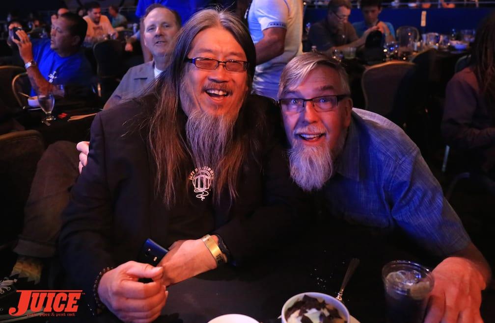 Jeff Ho and Paul Schmitt and lurker Jim Muir. Photo by Dan Levy © Juice Magazine