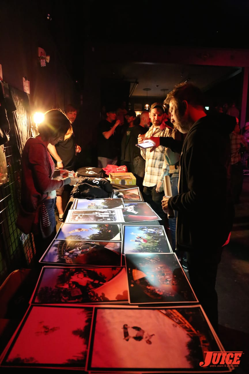 Blood and Steel Merch Table with Roxy. Photo by Dan Levy © Juice Magazine