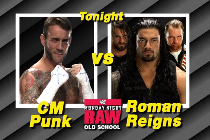 CM Punk Roman Reigns graphic looks great