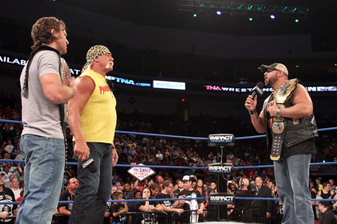 Chris Sabin and Bully Ray face off