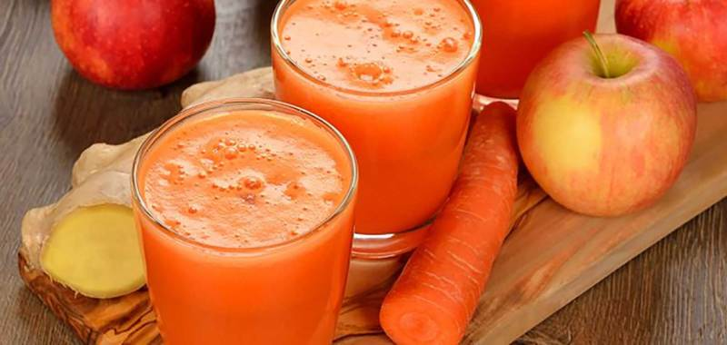 Carrot, Apple and Ginger Juice Recipe
