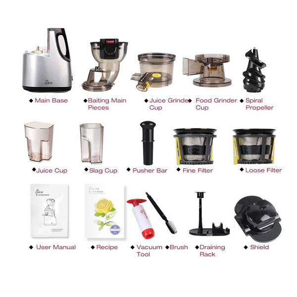 jese js-500a, parts list, Juicer Portal, Review