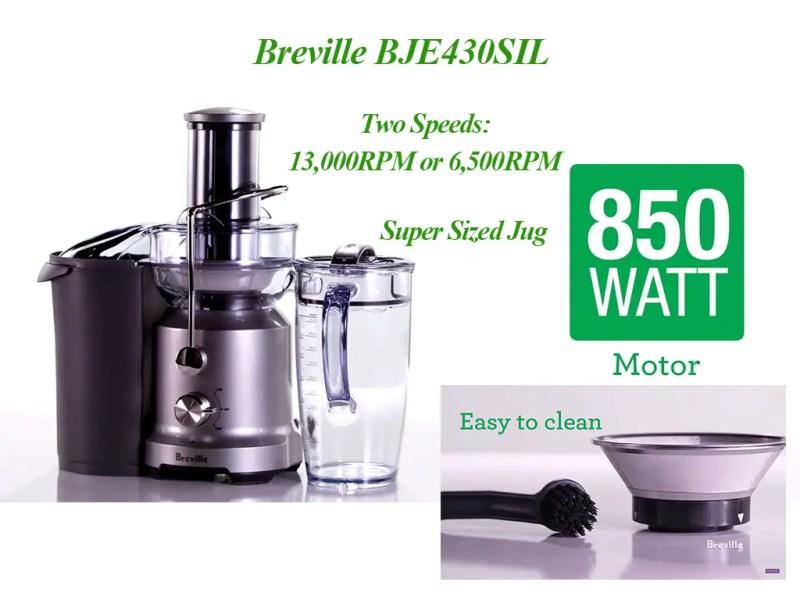 Breville BJE430SIL Saving Time