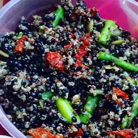 Juicy Lucy's Quinoa, Lentil & Asparagus Salad