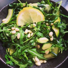 Juicy's Rocket & Courgette Salad