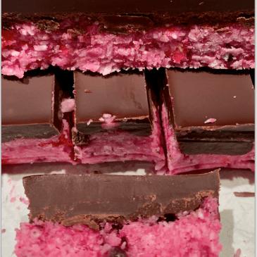 Cherry Chocolate Coconut Ice