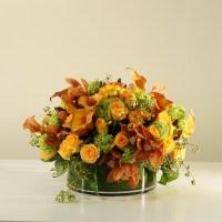 Orange flower centrepiece