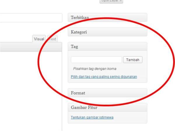 Cara menambah modul tag di WP.com – jujubandung