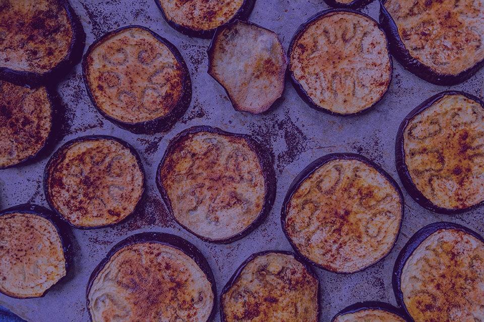 Garlic Eggplant Slices - Julian Marley JuJu Royal