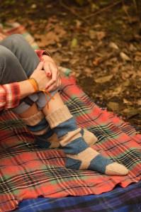 Camp and Trail Socks photographed for Pom Pom Quarterly, Summer 2013