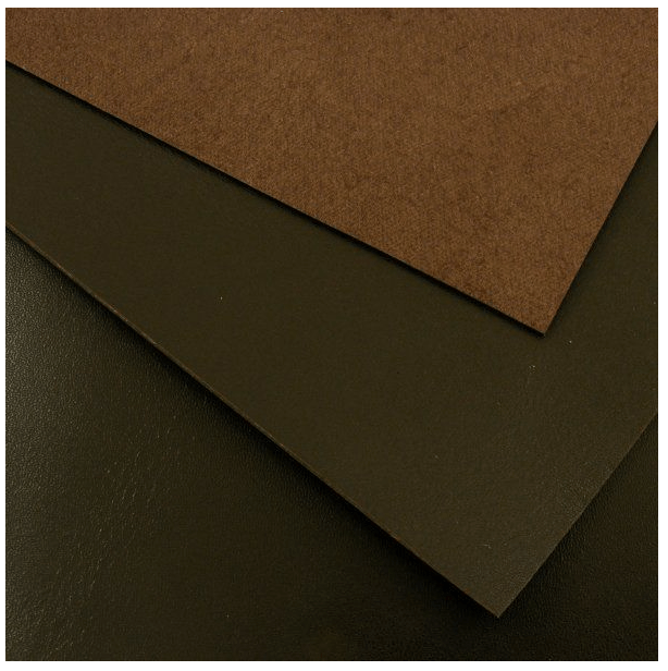 brown sheets of leather