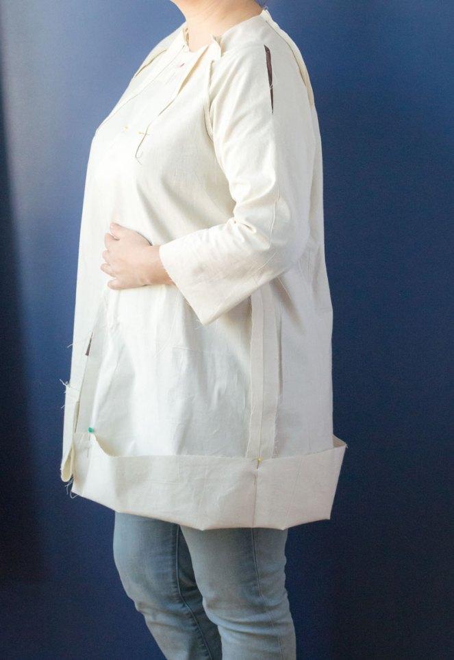 Pilvi coat shoulder slash