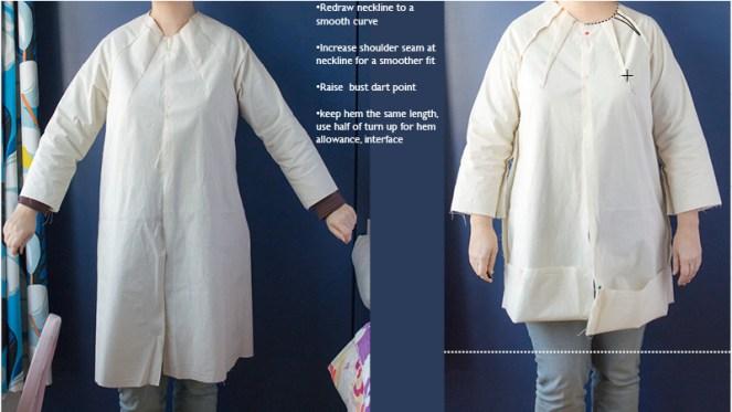 Pilvi Coat pattern adjustments