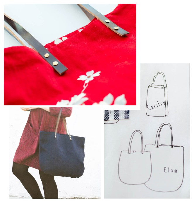 leather handles on elsa tote at jujuvail.com