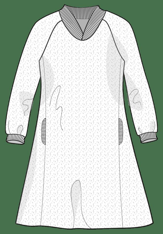 line drawing of raglan princess seam hack jujuvail.com