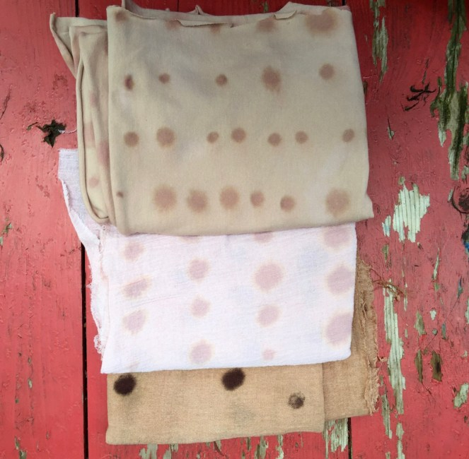 faded fabric samples