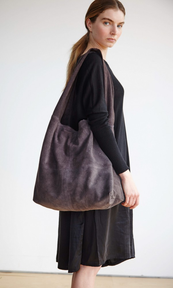 suede slouchy bag