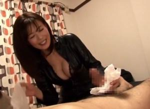 【熟女優 三浦恵理子】ネット応募の素人宅にキャットスーツでご訪問!ピンヒール足コキに巨乳胸チラ手コキで射精ヘルプ!
