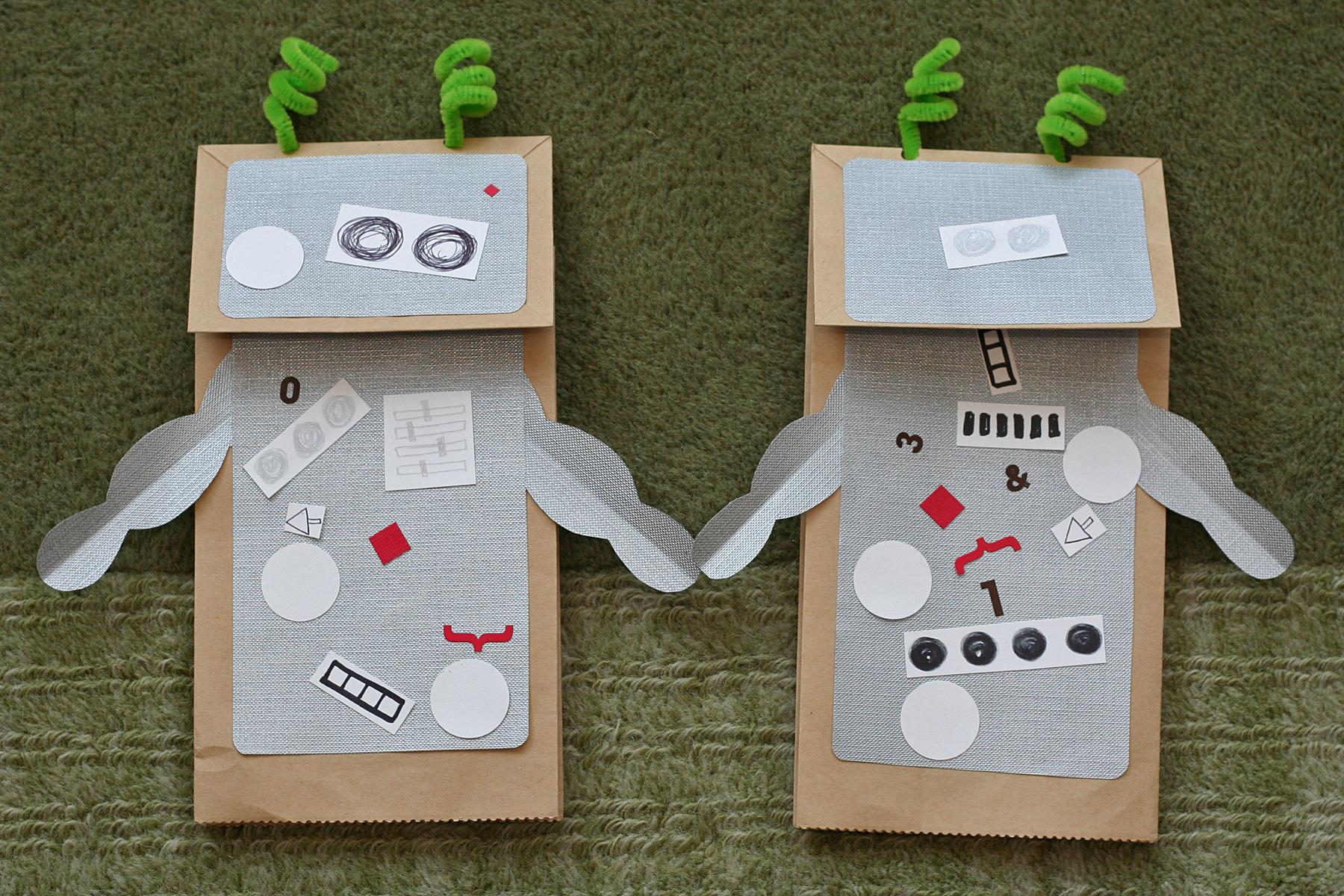 Daily Art Robot Puppets