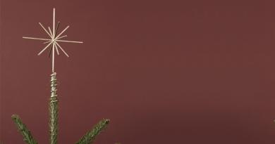 juletræsstjerne, flotte juletræsstjerner, moderne juletræs stjerner, ferm living juletræsstjerne