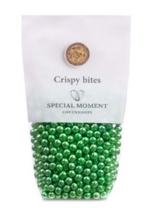 grønne chokolade kugler, chokolade kugler grøn, grøn julekrymmel, julekrymmel grøn, grønne kugler, farvet chokolade kugler
