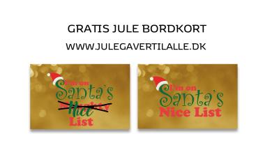 gratis julebordkort, bordkort til julefrokosten, julebordkort til julefrokosten,