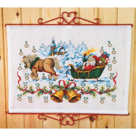 broderet julekalender, hjemmelavet julekalender, lav selv julekalender, kreativ garn julekalender, strikke julekalender