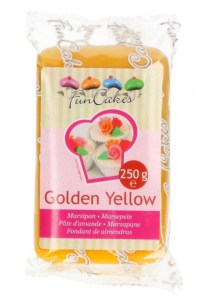 Marcipan gul, marcipan i farver, nem julekonfekt, marcipan til julekonfekten, gul marcipan