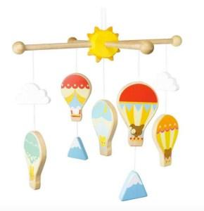 Uro med luftballoner, gaver til babyer, baby gaver, gaver til nyfødte, luftballon uro
