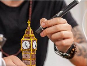 3D pen, kuglepen der kan lave 3d, sjove 3d figure med pen, mangelgaven, mandelgaven til børn